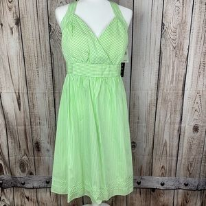 NWT APNY green summer dress 50's Retro. J423